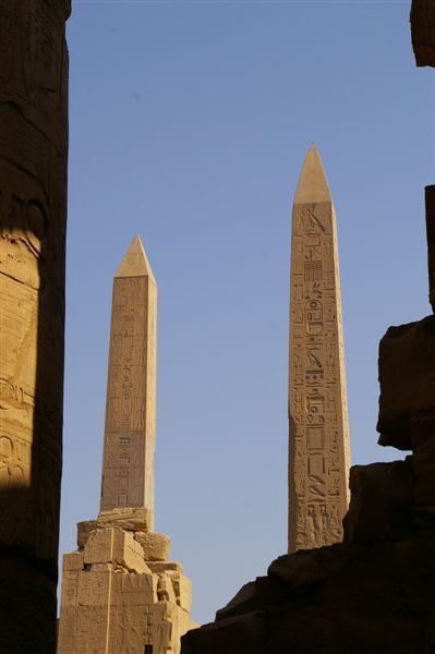 The two obelisks left at Karnak