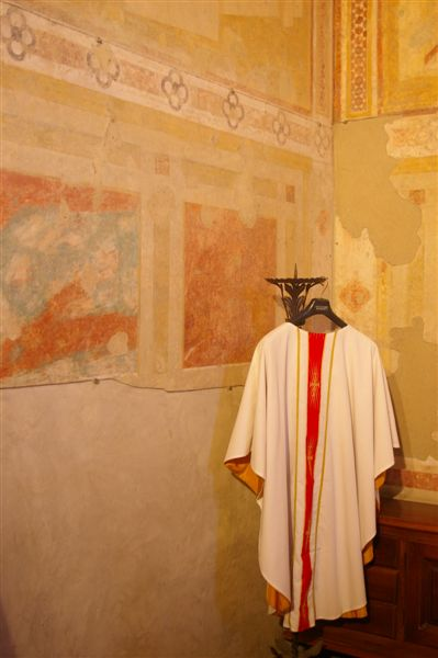 Priest's robes with fresco