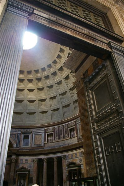 looking up in the Pantheon