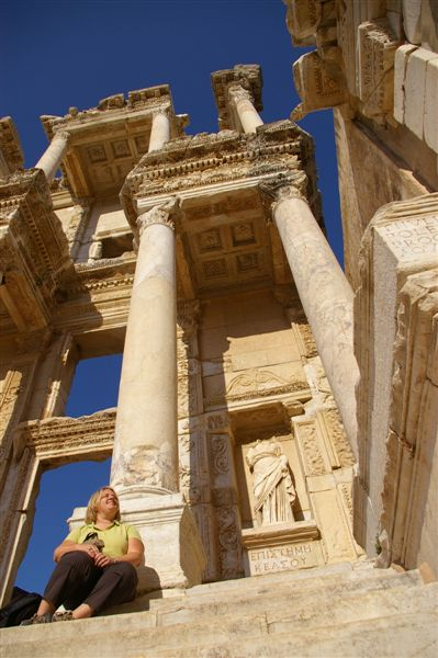 at the Library of Celsus