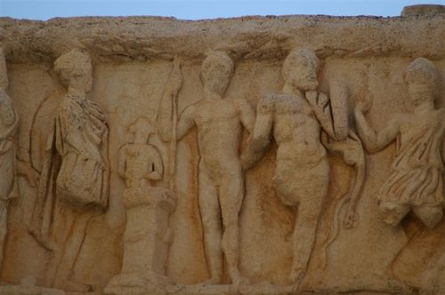 Frieze on the Temple